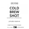 coffee method coldbrew shot label